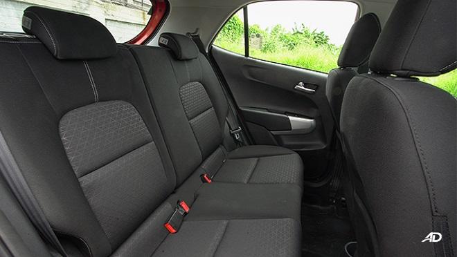 Kia Picanto interior rear seats Philippines
