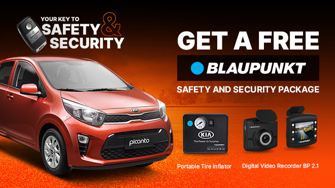 Kia Picanto with FREE Blaupunkt Safety and Security Package