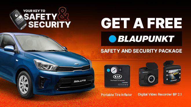 Kia Soluto with FREE Blaupunkt Safety and Security Package