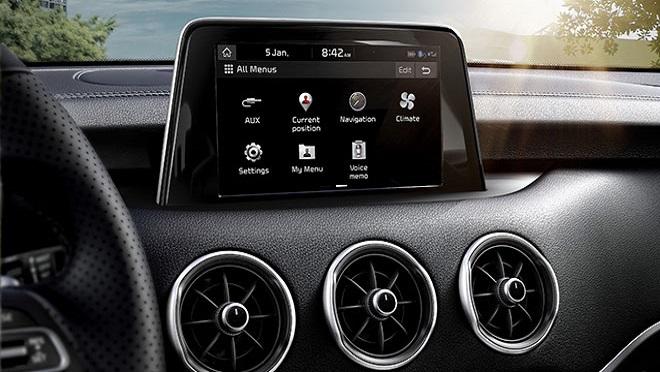 Kia Stinger interior infotainment system Philippines