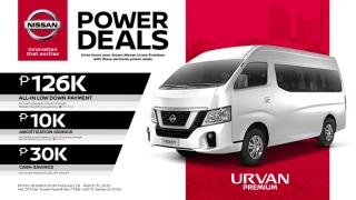 2020 Nissan Urvan Premium exterior front Philippines