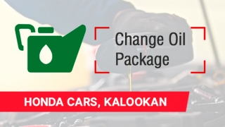 Honda Change Oil Package