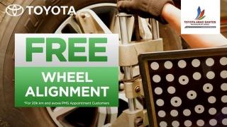 Toyota Abad Santos Service FREE Wheel Alignment