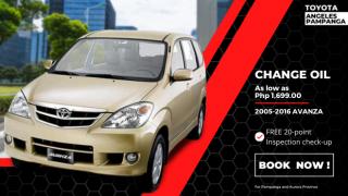 Toyota Angeles Pampanga Change Oil for Toyota Avanza