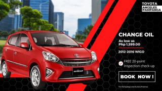 Toyota Angeles Pampanga Change Oil for Toyota Wigo