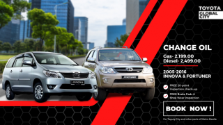 Toyota Global City Change Oil for Toyota Innova and Toyota Fortuner