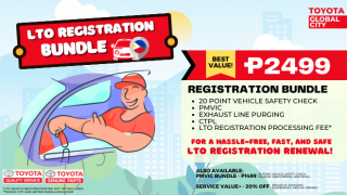 Toyota Global City  LTO Registration Bundle