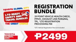 Toyota Global City Registration Bundle