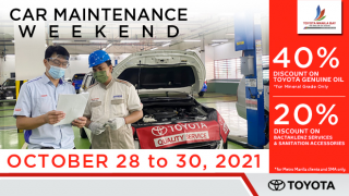 Toyota Manila Bay Car Maintenance Weekend Promo