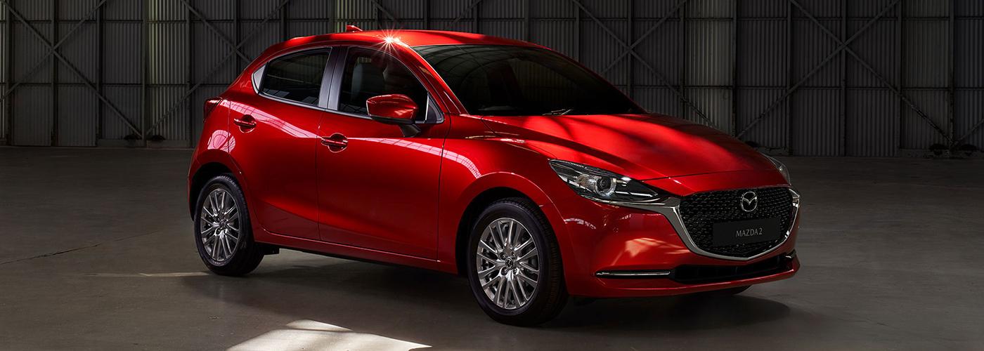 Mazda 2 hatchback exterior quarter front Philippines