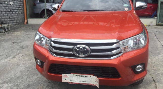 2016 toyota hilux 2.4g at 4x2 used car for sale in pasig city, metro manila, ncr autodeal