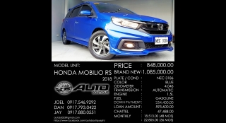 2018 Honda Mobilio 1.3 RS AT Gasoline