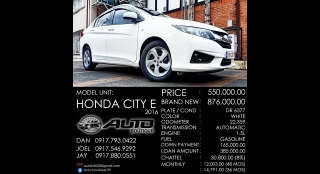 2016 Honda City E AT Gasoline