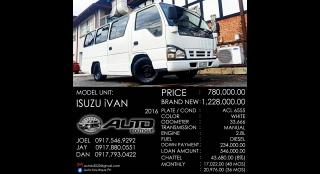 2016 Isuzu i-Van 2.8L MT Diesel
