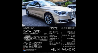 2015 BMW 5-Series Grand Turismo 3L AT Diesel