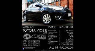 2016 Toyota Vios 1.3 e 1.3L AT Gasoline
