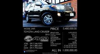 2015 Toyota Land Cruiser 200 4.5L AT Diesel