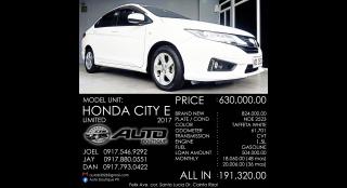 2017 Honda City E CVT