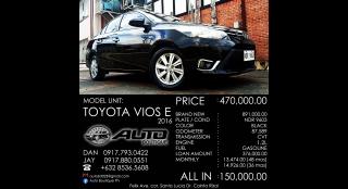 2016 Toyota Vios 1.3 e 1.3L AT Gasoline