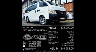 2018 Nissan NV350 Urvan 2.5 Standard 15-Seater MT