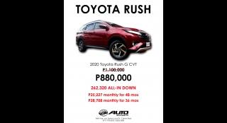 2020 Toyota Rush G AT