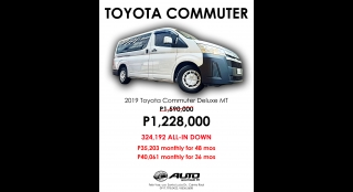 2019 Toyota Hiace 2.8 Commuter Deluxe MT