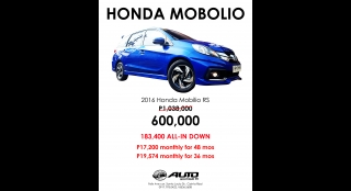 2016 Honda Mobilio RS AT