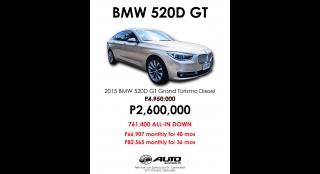 2015 BMW 5-Series Grand Turismo 3L AT Diesel