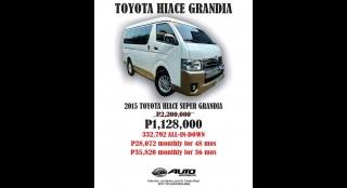 2015 Toyota Hiace Super Grandia 3L AT Diesel